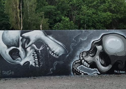 Draken skulls by Tony-b and Sagie