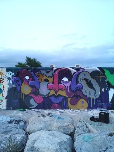 Wallspot - alchinesse - freestyle  - Barcelona - Forum beach - Graffity - Legal Walls - Illustration