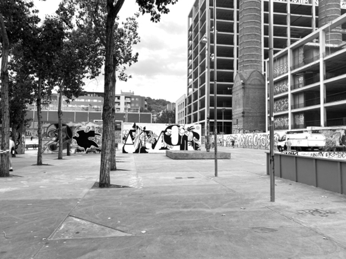 Wallspot - Marcelserrano - Tres Xemeneies - Marcelserrano - Barcelona - Tres Xemeneies - Graffity - Legal Walls - Lletres, Il·lustració