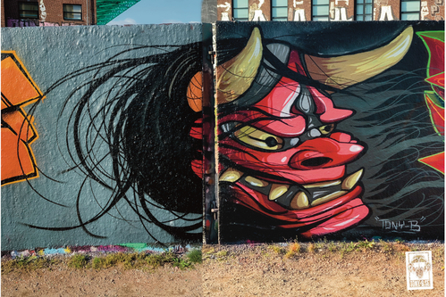 Wallspot - Tony-b - hannya - Göteborg - Draken - Graffity - Legal Walls - Illustration