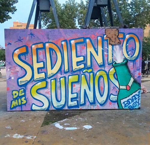 Wallspot - BDAY BOY ART - Sediento de mis sueños  - Barcelona - Tres Xemeneies - Graffity - Legal Walls - Letters, Illustration