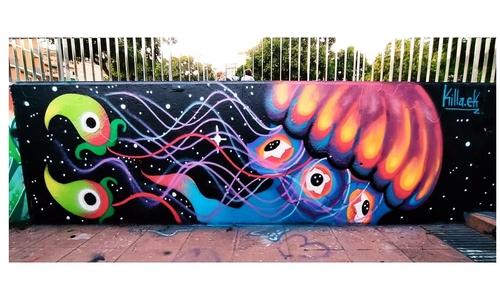 Wallspot - Killa.Ek -  - Barcelona - Mas Guinardó - Graffity - Legal Walls -